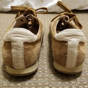 J. Crew Shoes - J. Crew Leather Suede Sneakers Camel and Cream